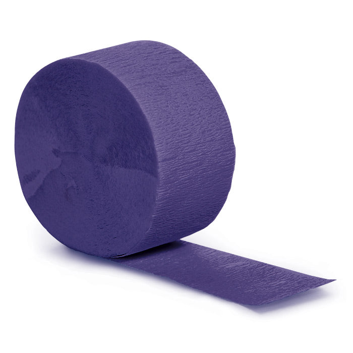 Purple Crepe Streamers 81' by Creative Converting