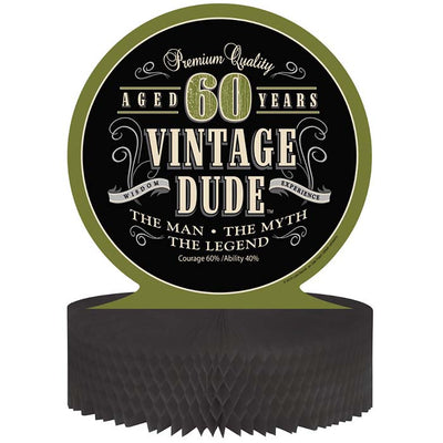 Vintage Dude 60th Birthday Centerpiece by Creative Converting