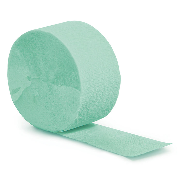 Fresh Mint Crepe Streamers 81' by Creative Converting