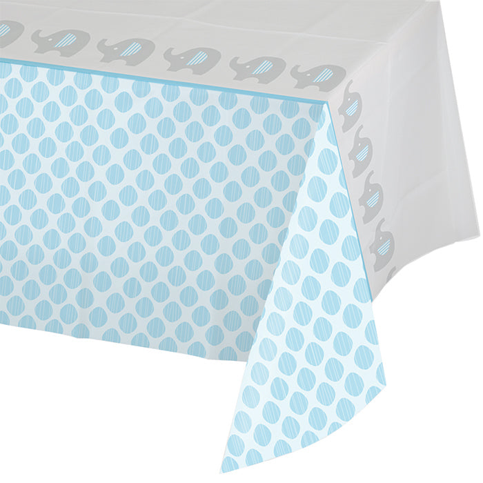 "Little Peanut - Boy All Over Prt Plastic Tablecover 54"" X 102"" by Creative Converting"