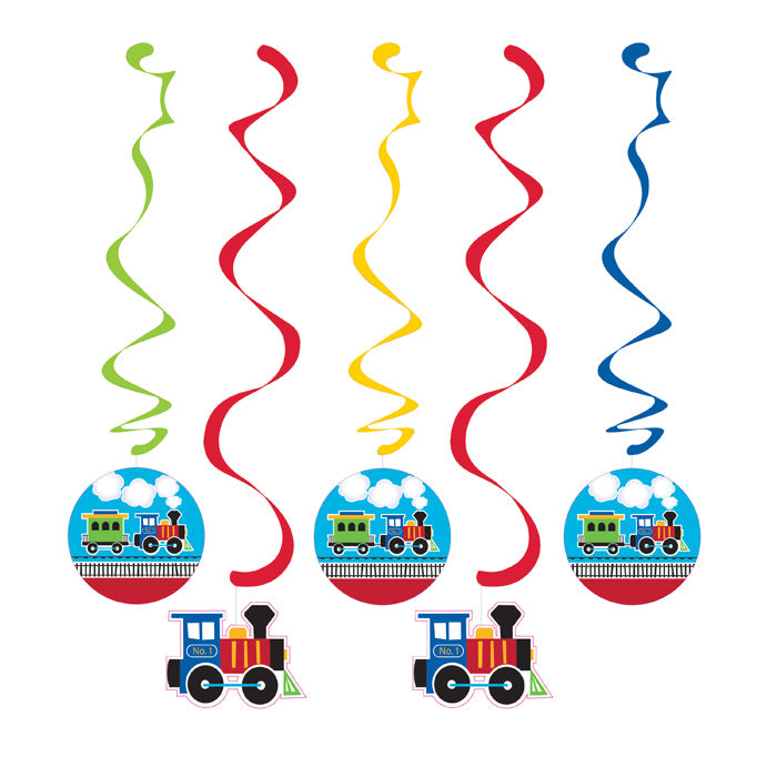 All Aboard Train Dizzy Danglers, 5 ct by Creative Converting