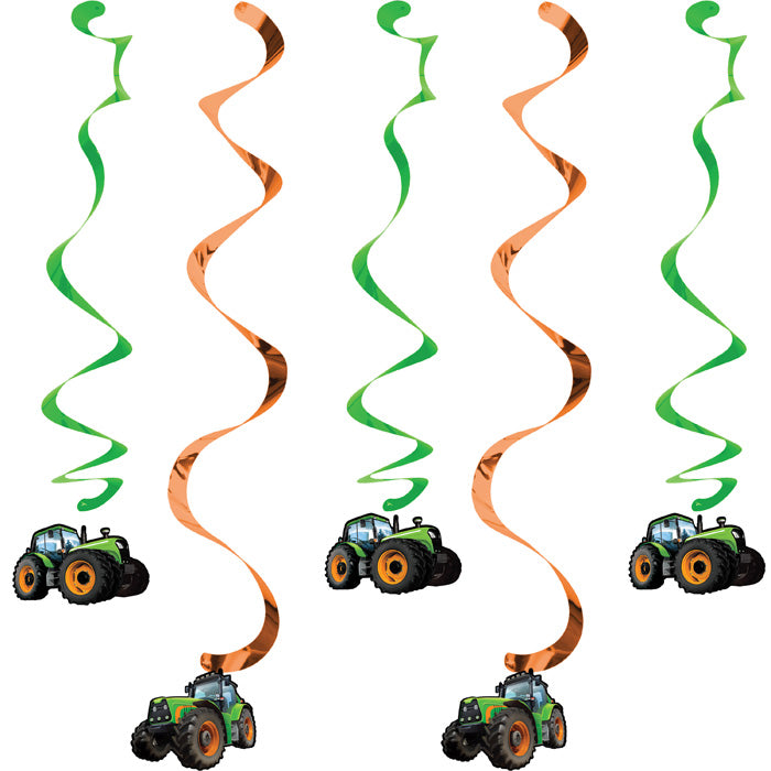 Tractor Time Dizzy Danglers, 5 ct by Creative Converting