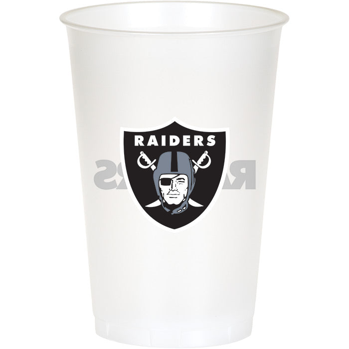 Oakland Raiders Plastic Cup, 20Oz, 8 ct by Creative Converting