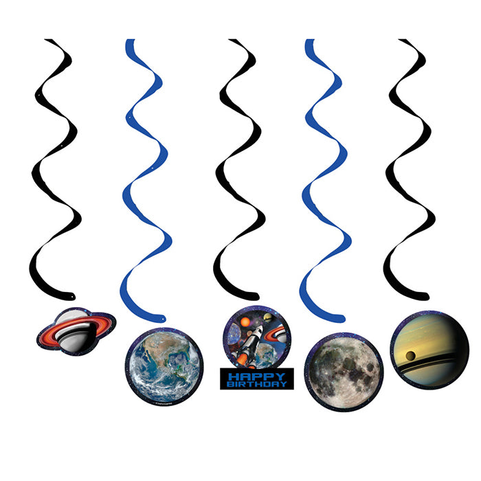 Space Blast Dizzy Danglers, 5 ct by Creative Converting