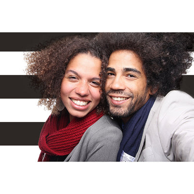 Black And White Stripe Photo Booth Backdrop Party Supplies