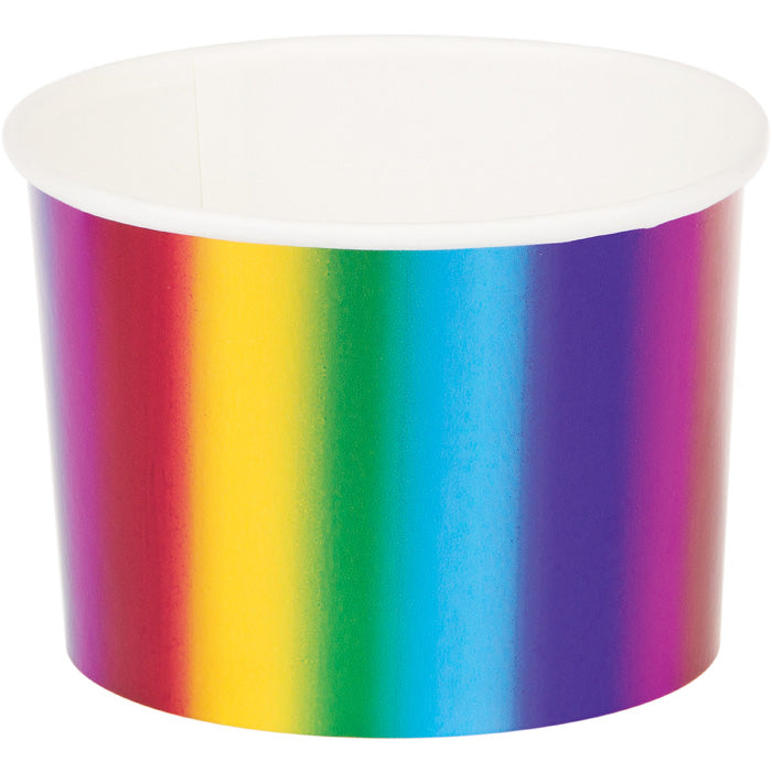 Rainbow Foil Treat Cups, 6 ct by Creative Converting