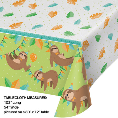 Sloth Party Plastic Tablecloth Party Decoration