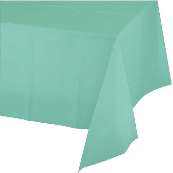 "Fresh Mint Tablecover Plastic 54"" X 108"" by Creative Converting"
