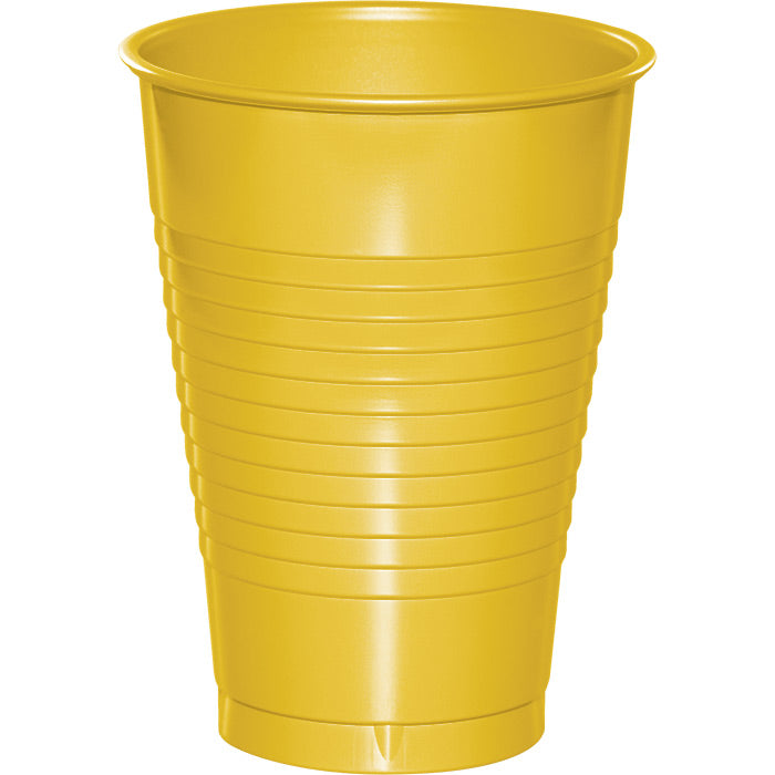 School Bus Yellow 12 Oz Plastic Cups, 20 ct by Creative Converting
