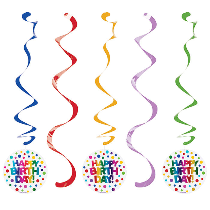 Rainbow Foil Dizzy Danglers, 5 ct by Creative Converting