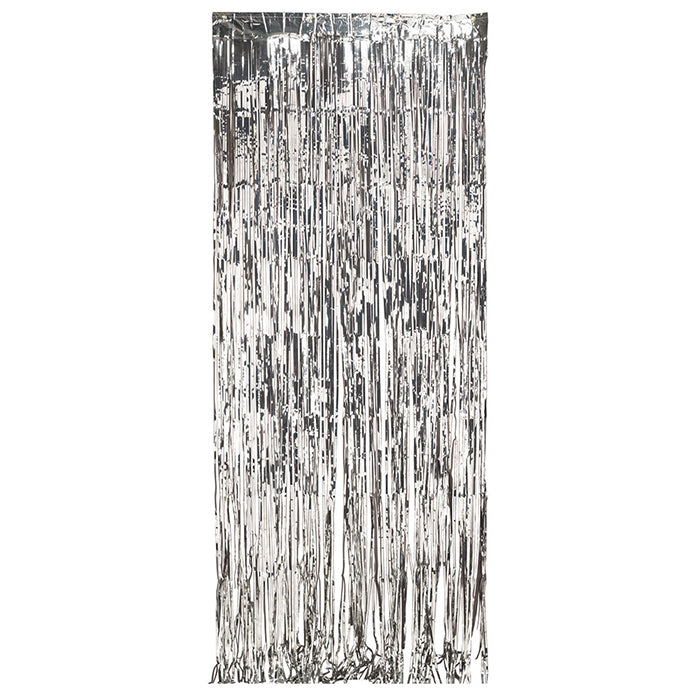 Foil Door Curtain Silver, 8'X3' by Creative Converting
