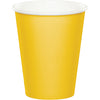 School Bus Yellow Hot/Cold Paper Paper Cups 9 Oz., 8 ct by Creative Converting