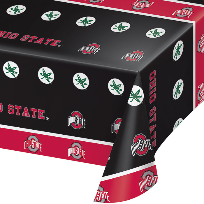 "Ohio State University Plastic Tablecloth, 54"" X 108"" by Creative Converting"