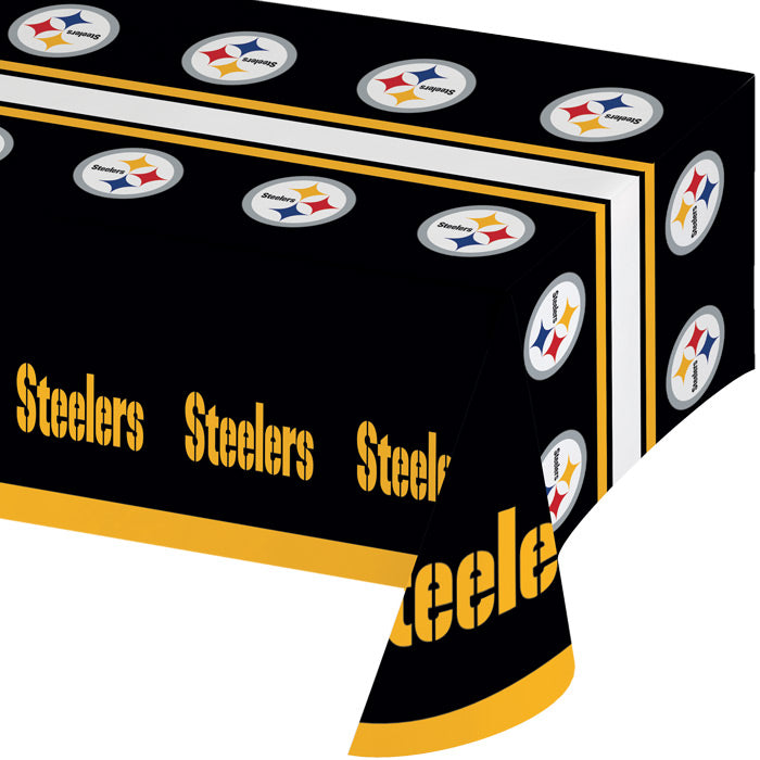 "Pittsburgh Steelers Plastic Tablecloth, 54"" X 108"" by Creative Converting"