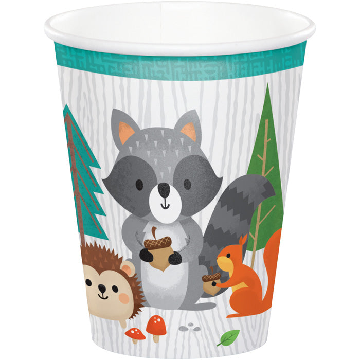 Wild One Woodland Paper Cups, Pack Of 8 by Creative Converting