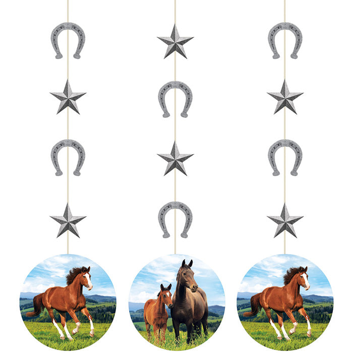 Horse And Pony Hanging Cutouts, 3 ct by Creative Converting