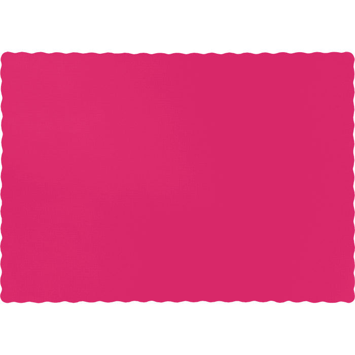 Hot Magenta Pink Placemats, 50 ct by Creative Converting