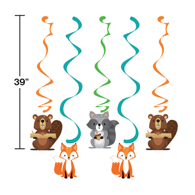 Wild One Woodland Dizzy Danglers, Pack Of 5 Party Decoration