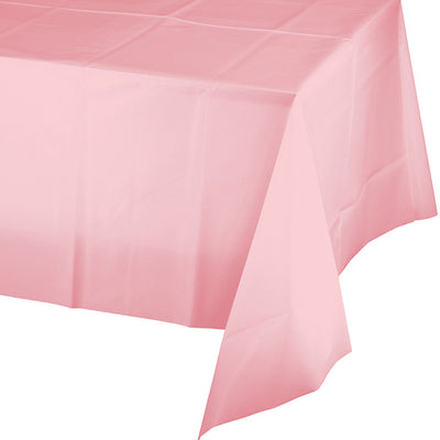 "Classic Pink Plastic Tablecover 54"" X 108"" by Creative Converting"