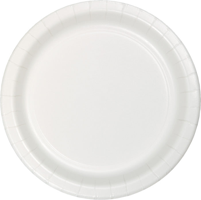 White Luncheon Plate, 24 ct by Creative Converting