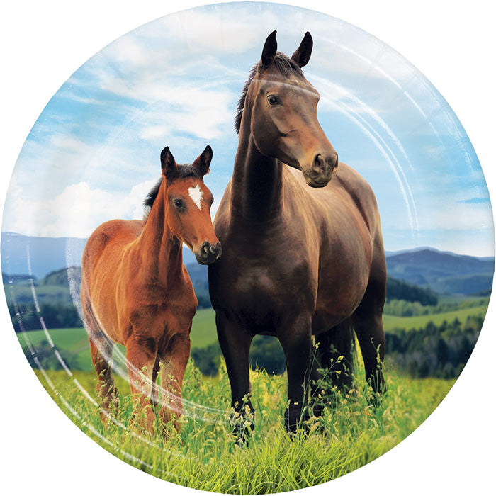Horse And Pony Dessert Plates, 8 ct by Creative Converting