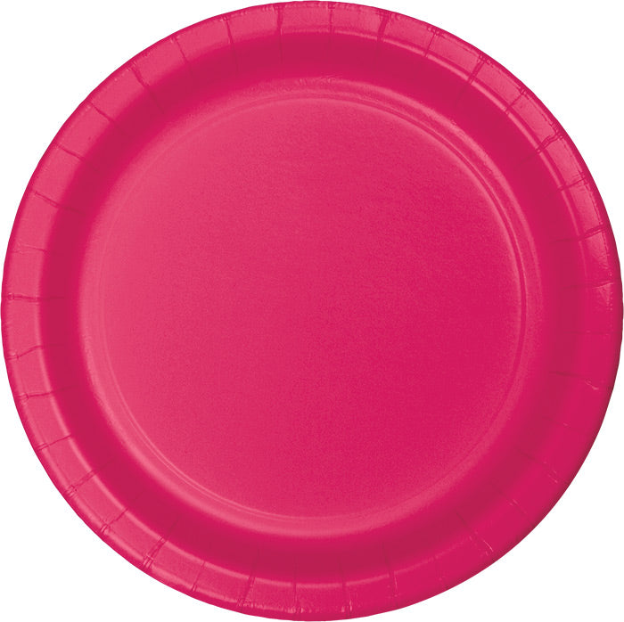 Hot Magenta Pink Dessert Plates, 24 ct by Creative Converting