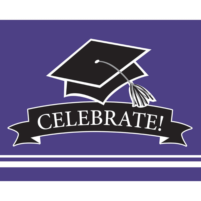 Graduation School Spirit Purple Invitations, 25 ct by Creative Converting