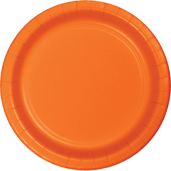 Sunkissed Orange Dessert Plates, 8 ct by Creative Converting