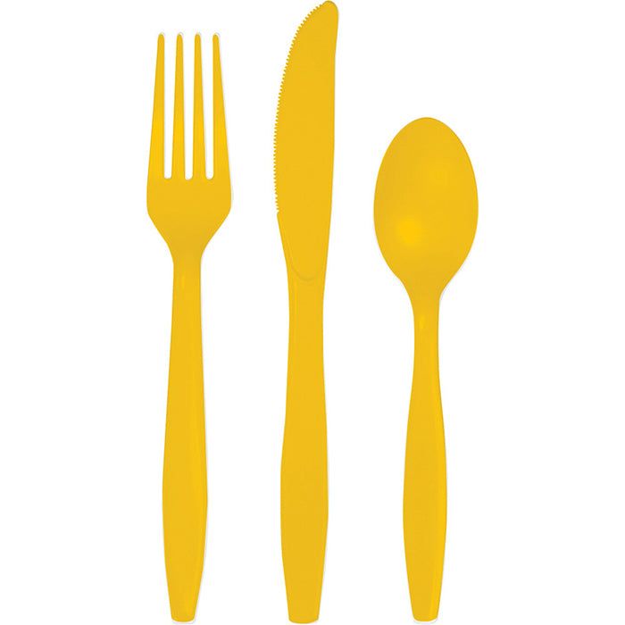 School Bus Yellow Assorted Cutlery, 18 ct by Creative Converting