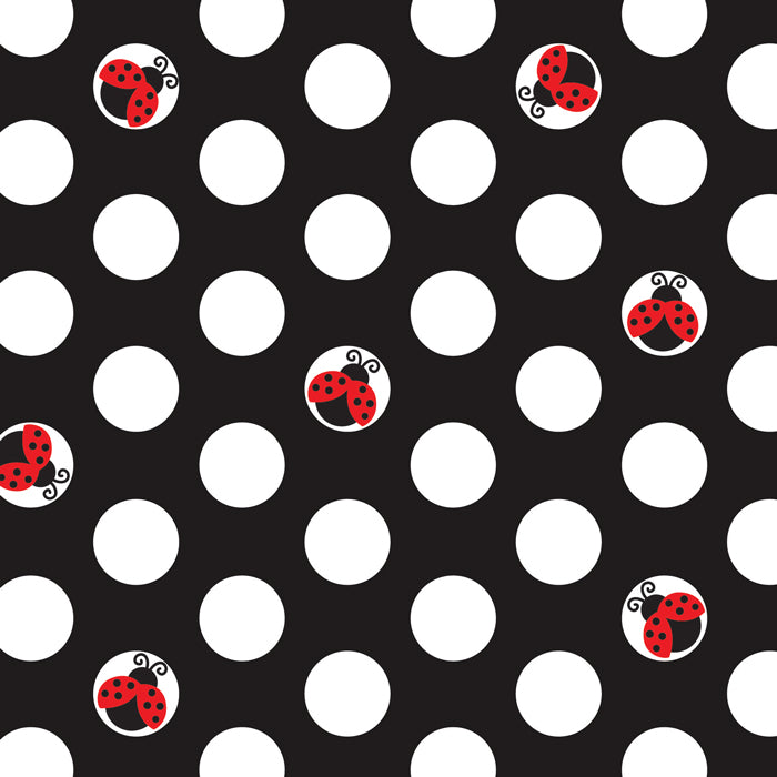 Ladybug Fancy Beverage Napkin, 3 Ply, 16 ct by Creative Converting
