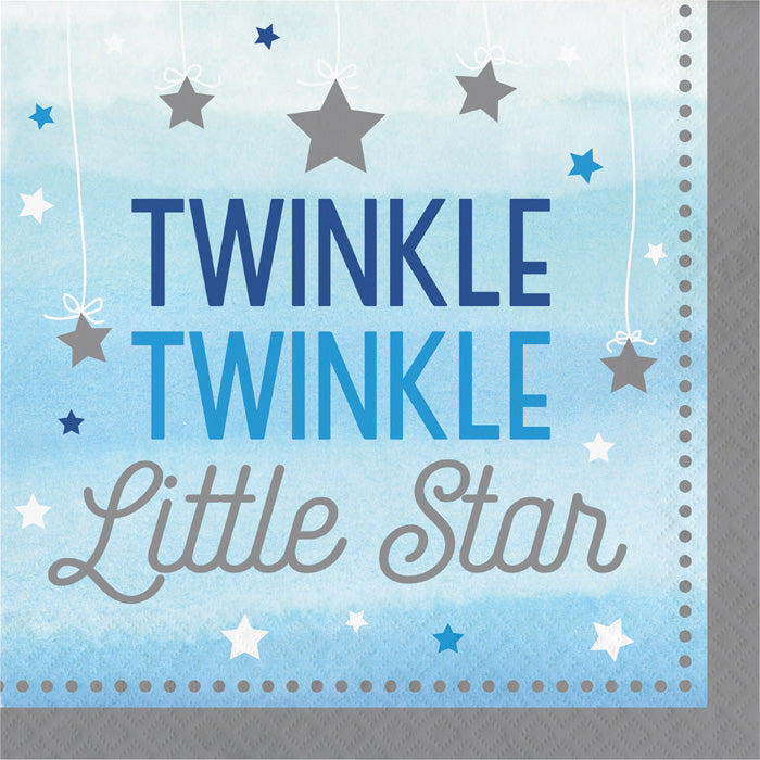 One Little Star Boy Napkins, 16 ct by Creative Converting