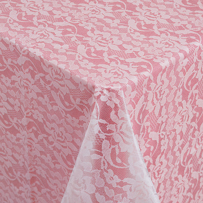 All Over Prt Plastic Tablecover Lace Look, W by Creative Converting