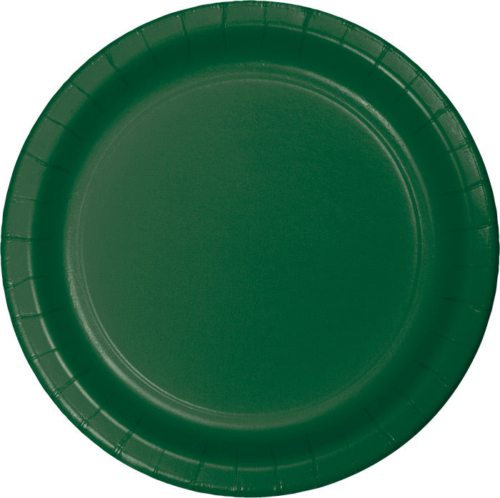 Hunter Green Dessert Plates, 24 ct by Creative Converting