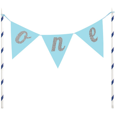 1st Birthday Boy Cake Banner by Creative Converting
