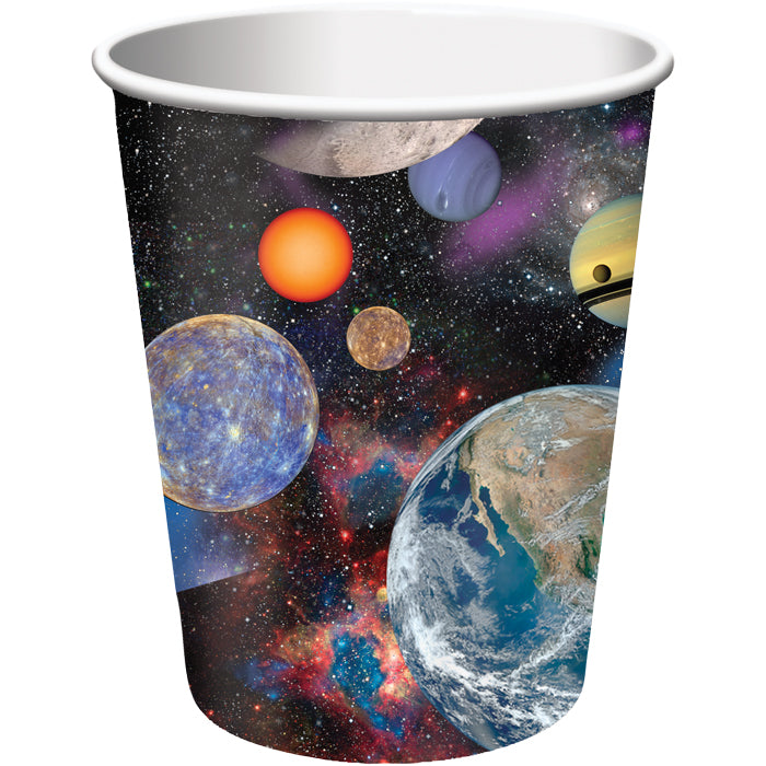 Space Blast Hot/Cold Paper Paper Cups 9 Oz., 8 ct by Creative Converting
