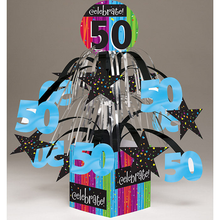 Milestone Celebrations Centerpiece Cascade W/Base & Att, '50 by Creative Converting