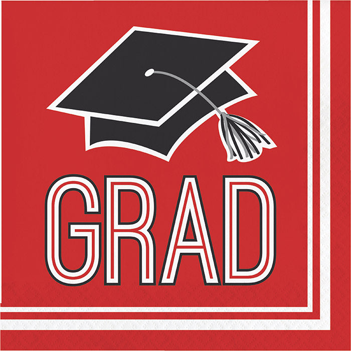 Graduation School Spirit Red Napkins, 36 ct by Creative Converting