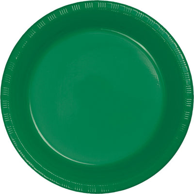 Emerald Green Plastic Dessert Plates, 20 ct by Creative Converting
