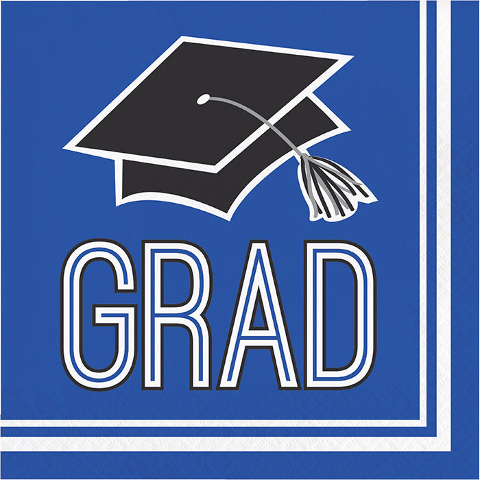 Graduation School Spirit Blue Napkins, 36 ct by Creative Converting
