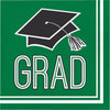 Graduation School Spirit Green Napkins, 36 ct by Creative Converting