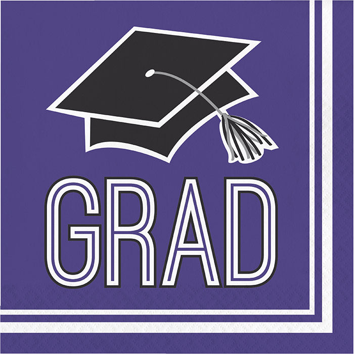 Graduation School Spirit Purple Napkins, 36 ct by Creative Converting