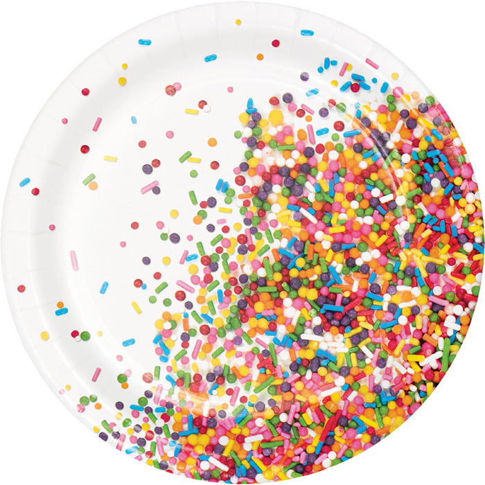 Confetti Sprinkles Dessert Plates, 8 ct by Creative Converting