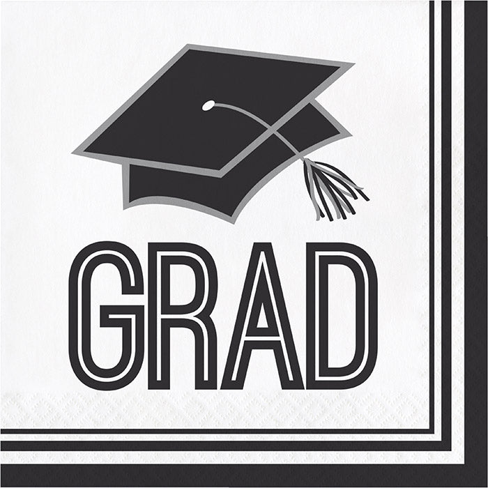 Graduation School Spirit White Napkins, 36 ct by Creative Converting