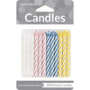 Assorted Striped Candles, 24 ct by Creative Converting