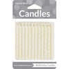 White Candles, 24 ct by Creative Converting