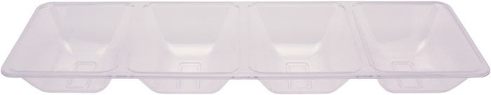 "Clear Plastic Tray 16"" Divided by Creative Converting"