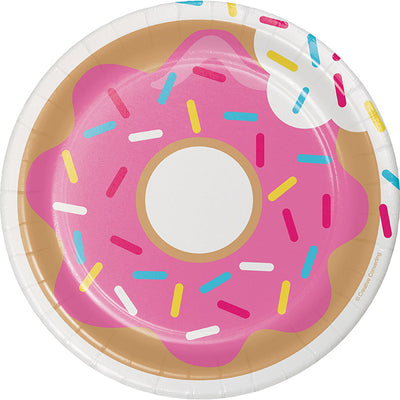 Donut Time Dessert Plates, 8 ct Party Decoration