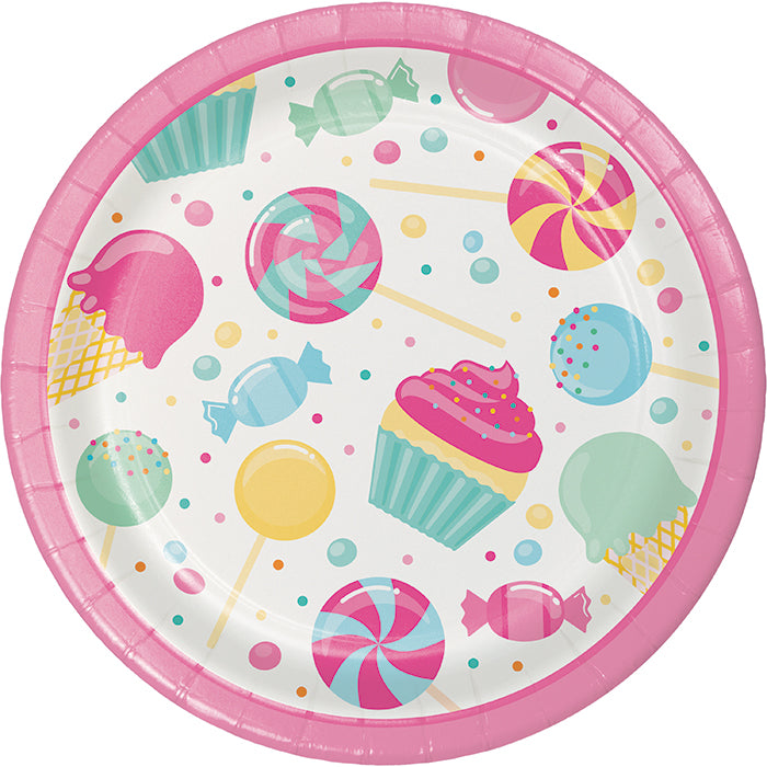 Candy Bouquet Dessert Plates, 8 ct by Creative Converting