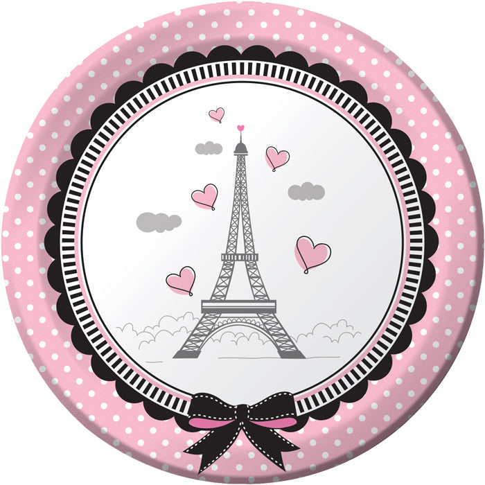 Party In Paris Dessert Plates, 8 ct by Creative Converting