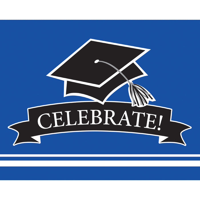Graduation School Spirit Blue Invitations, 25 ct by Creative Converting